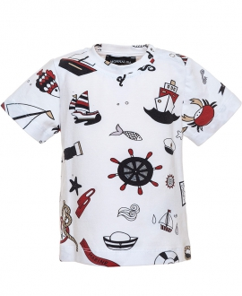 Camiseta Bebe Niño MONNALISA Estampado Marinero