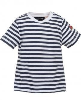 Camiseta Bebe Niño MONNALISA Rayas Marino y Blanco