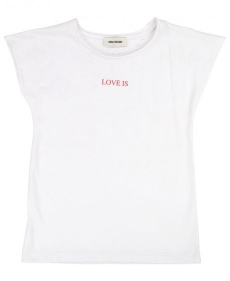 Camiseta Niña ZADIG & VOLTAIRE Blanca Love Is