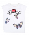 Camiseta Niña ZADIG & VOLTAIRE Blanca Mariposas
