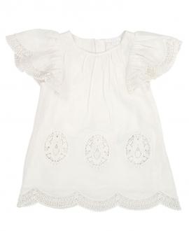 Vestido Bebe Niña CHLOÉ Blanco Bordado