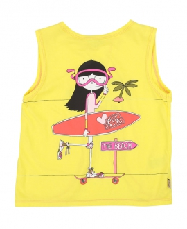 Camiseta Niña LITTLE MARC JACOB Amarilla Beach