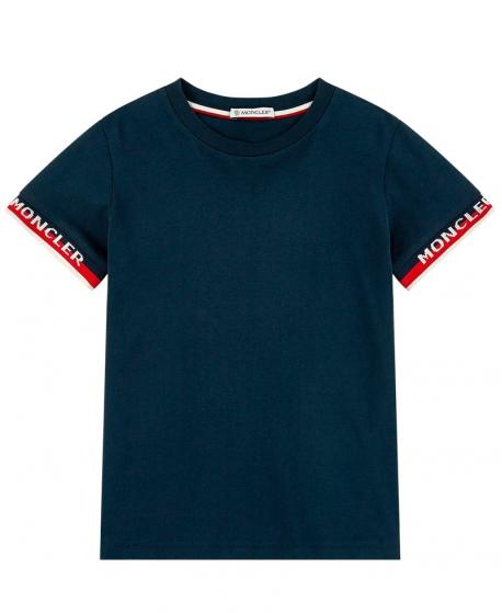 Camiseta Niño MONCLER Marino Logo Mangas