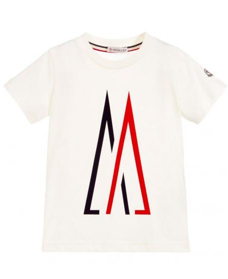 Camiseta Niño MONCLER Marfil Logo