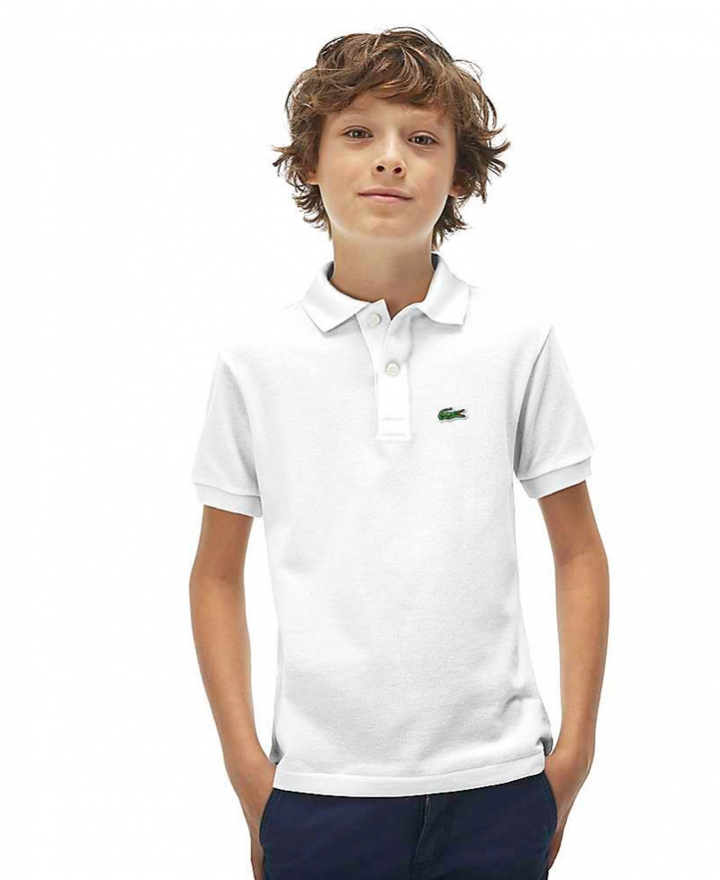 7374ab47055a4 Ro Niño Infantil Polo Piqué Blanco Lacoste qUAzU6w0