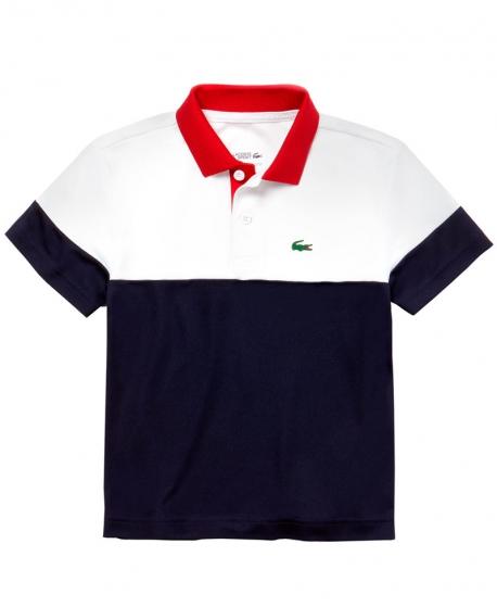 Polo Niño LACOSTE Pique Tricolor Sport