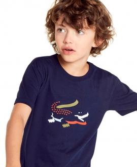Camiseta Niño LACOSTE Marino Cocodrilo