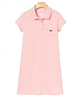 Vestido Niña LACOSTE Pique Rosa