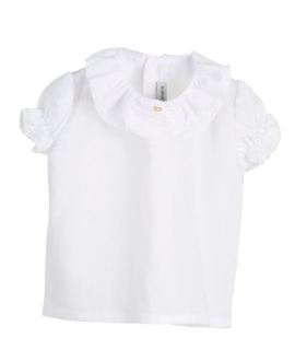 Camisa Bebe CASILDA Y JIMENA Roseta Lencera Blanca
