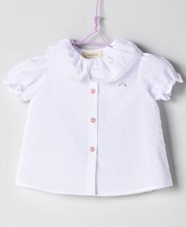 Blusa Plumeti Blanco Bebé Niña NANOS
