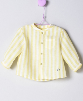 Camisa Lino Amarillo Bebé Niño NANOS Rayas