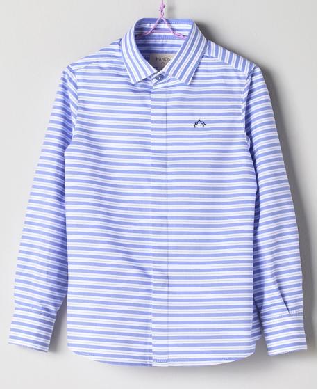 Camisa Oxford Celeste Niño NANOS