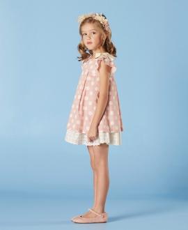 Vestido Rosa Niña NANOS Lunares