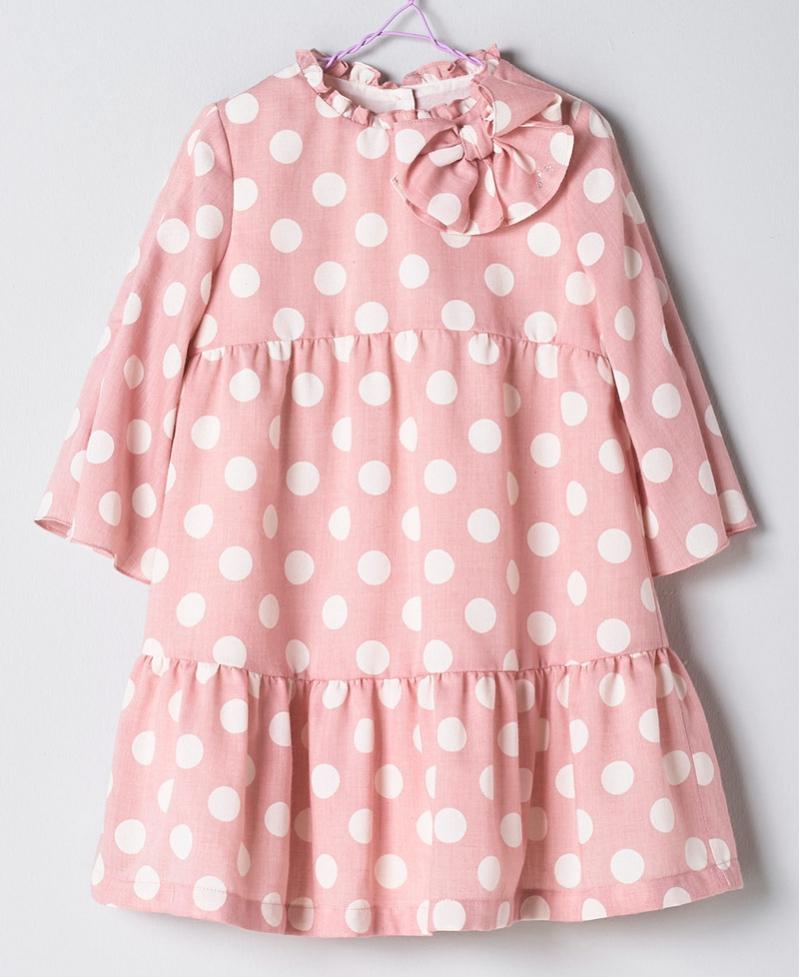 7dd2e5204 Vestido Rosa Niña NANOS Lunares - Ro Infantil