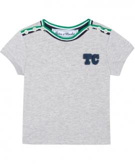 Camiseta Niño TARTINE ET CHOCOLAT Gris Logo TC