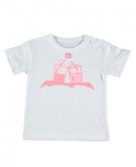 Camiseta Niño AL AGUA PATOS Vichy Coral