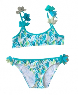 Bikini Niña AL AGUA PATOS Hierbas