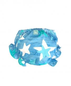 Cubrepañal Baño Bebe Niño AL AGUA PATOS Star Azul