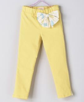 Pantalon Loneta Amarillo Niña NANOS Lazo