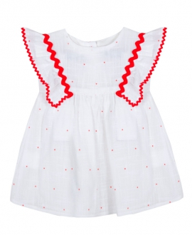 Vestido Bebe Niña TARTINE ET CHOCOLAT Voila Lunares Rojo