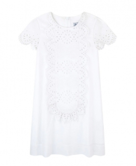 Vestido Niña TARTINE ET CHOCOLAT Blanco Bordado