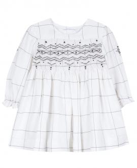 Vestido Bebe Niña TARTINE ET CHOCOLAT Cuadros Blanco