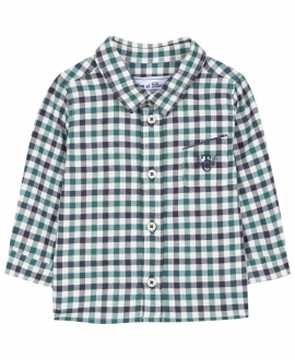 Camisa Bebé Niño TARTINE ET CHOCOLAT Cuadros Verde