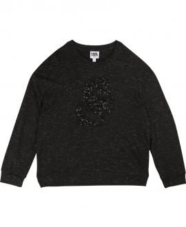 Camiseta Niña KARL LAGERFELD Negra