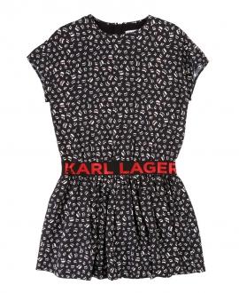 Vestido Niña KARL LAGERFELD Ikonic Negro