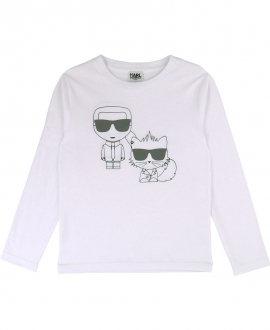 Camiseta Niño KARL LAGERFELD Blanca Karl y Bad Boy