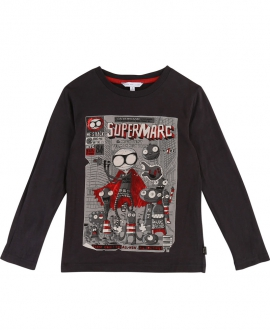 Camiseta Niño LITTLE MARC JACOB Gris Supermarc