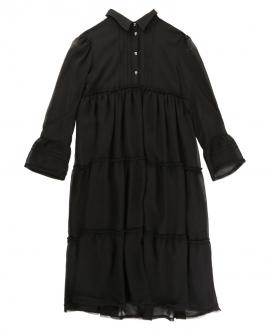 Vestido Camisero Niña ZADIG & VOLTAIRE Negro