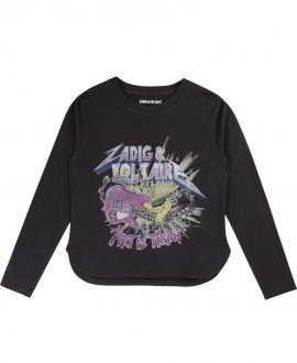 Camiseta Niña ZADIG & VOLTAIRE Estampado Rock