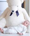 Peluche TARTINE ET CHOCOLAT Jean, l'ours blanc (60 cm)
