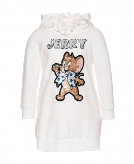 Vestido Niña MONNALISA Jerry Strass Blanco