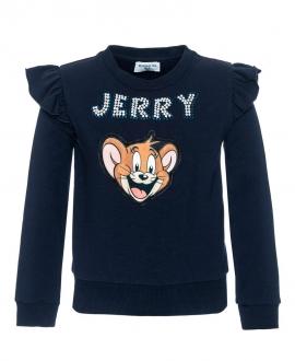 Camiseta Niña MONNALISA Marino Volantes Jerry