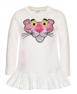 Camiseta Niña MONNALISA Pantera Rosa Strass