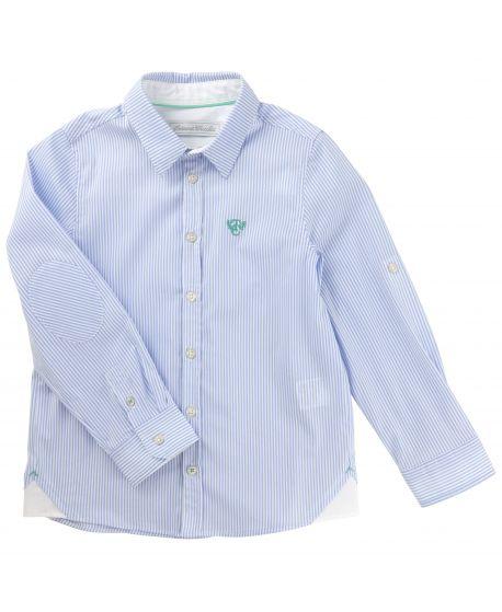 Camisa Tartine et Chocolat Niño Azul Rayas