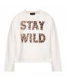 Camiseta Niña MONNALISA Crudo Stay Wild