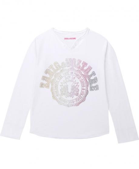 Camiseta Niña ZADIG & VOLTAIRE Strass Multicolor