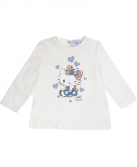 Camiseta Bebé Niña MONNALISA Hello Kitty Corazones