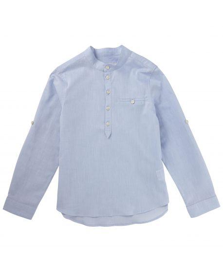 Camisa Tartine et Chocolat Niño Cuello Mao Azul