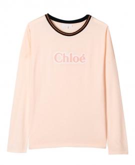 Camiseta Niña CHLOÉ Rosa Logo
