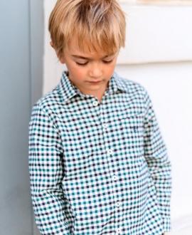 Camisa Niño TARTINE ET CHOCOLAT Cuadros Verde