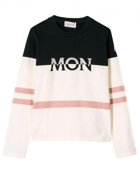 Camiseta Niña MONCLER Franjas Rosa