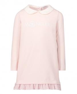 Vestido Bebe Niña MONCLER Rosa Logo Bordado