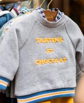 Sudadera Niño TARTINE ET CHOCOLAT Gris Logo