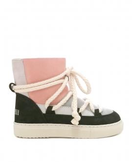Sneaker Niña INUIKKI Negro, Rosa y Blanco