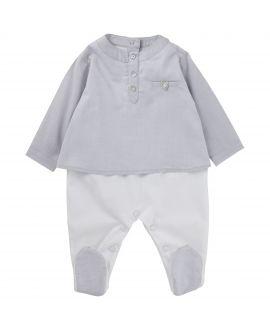Pijama Tartine et Chocolat Bebé Dos Piezas Gris