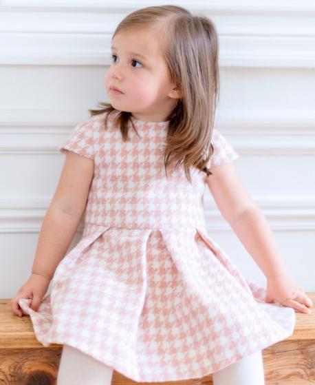 Vestido Bebe Niña TARTINE ET CHOCOLAT Pata de Gallo Rosa